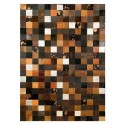 patchwork cowhide rug k-1675 mosaik multicolor brown