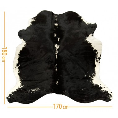 cowhide d-35 black white
