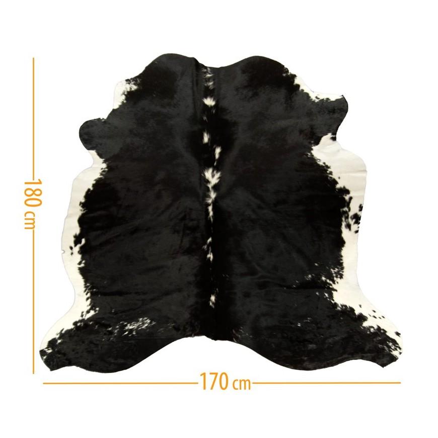 χαλι δερμα d-35 black white