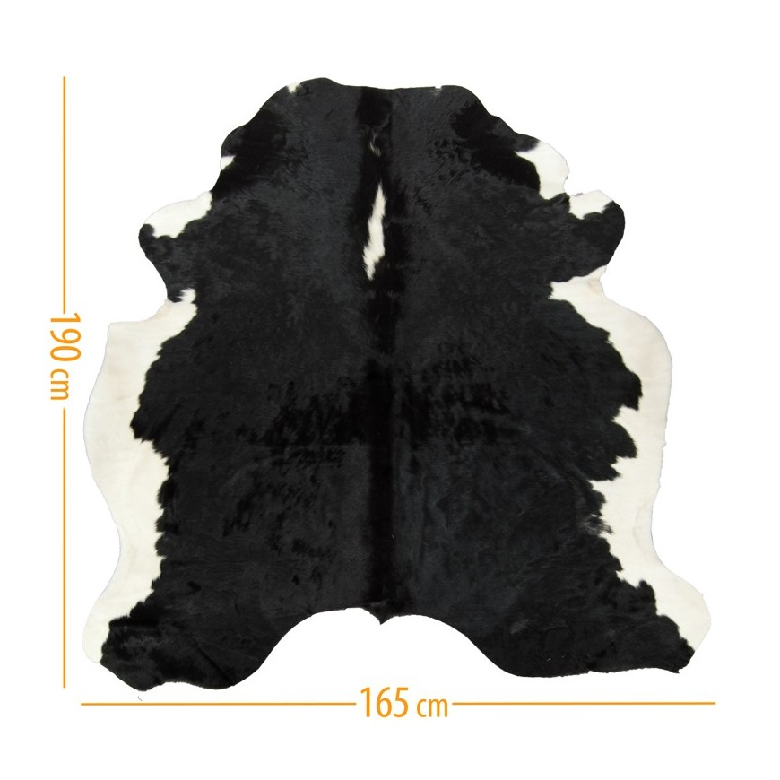 cowhide d-37 black white