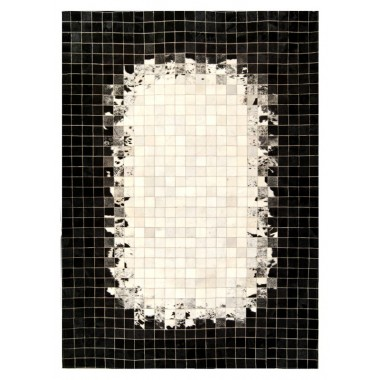 patchwork cowhide rug k-1809 mosaik shades of ebony
