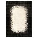patchwork cowhide rug k-1809 mosaik white-black