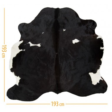 cowhide d-42 black brown white