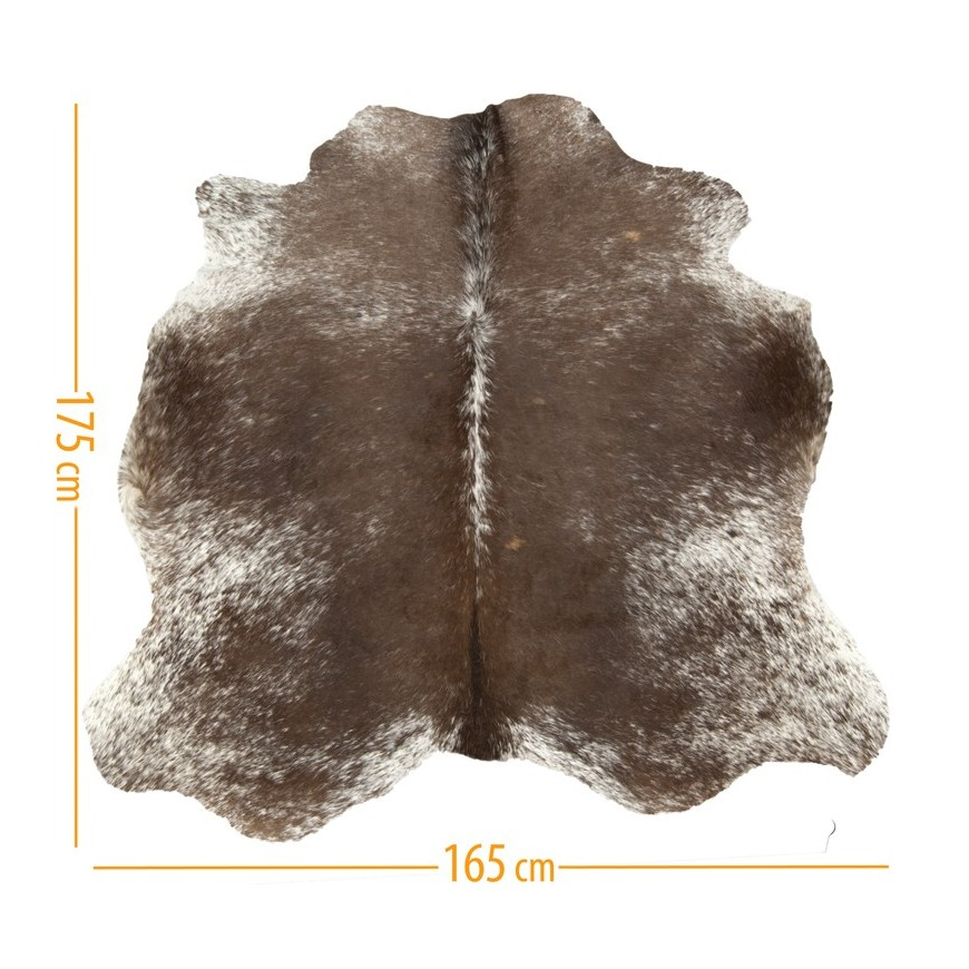 cowhide pelt D-44 salt & pepper brown white