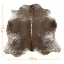 cowhide d-44 salt & pepper brown white