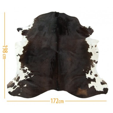 Cowhide skin D-49 redish brown with white belly