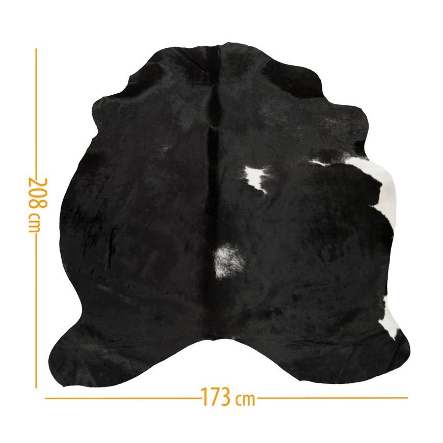 χαλι δερμα d-37 black white