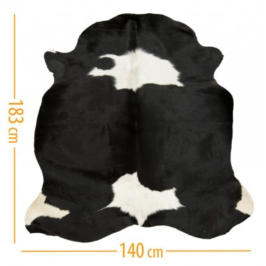 cowhide d-53 black white