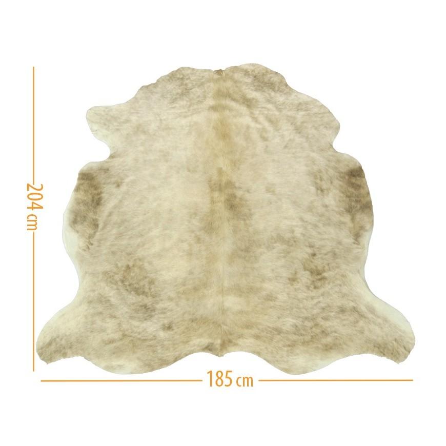 Cowhide rug D-46 beige grey