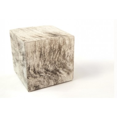 cowhide cube cover* light grey beige