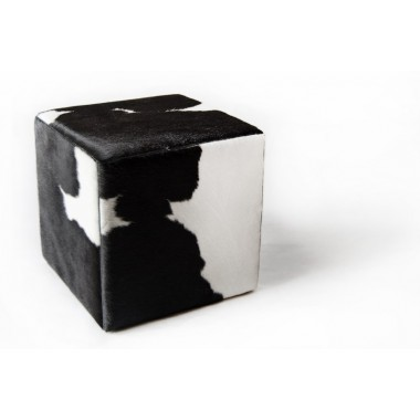 cowhide cube cover* black white
