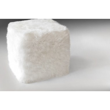 sheepskin cube cover* sheepskin white