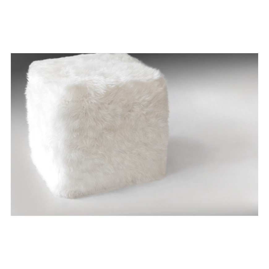 sheepskin cube cover* sheepskin white