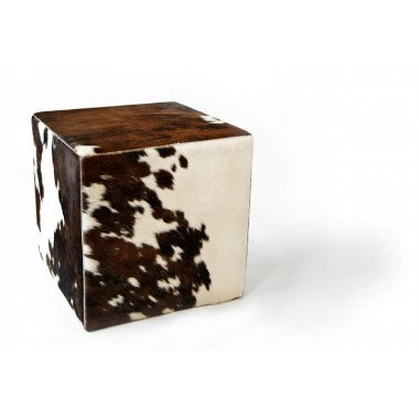 cowhide cube cover*  brown white tricolor  - pony skin