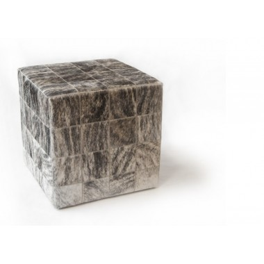 cowhide cube cover* light grey beige panels