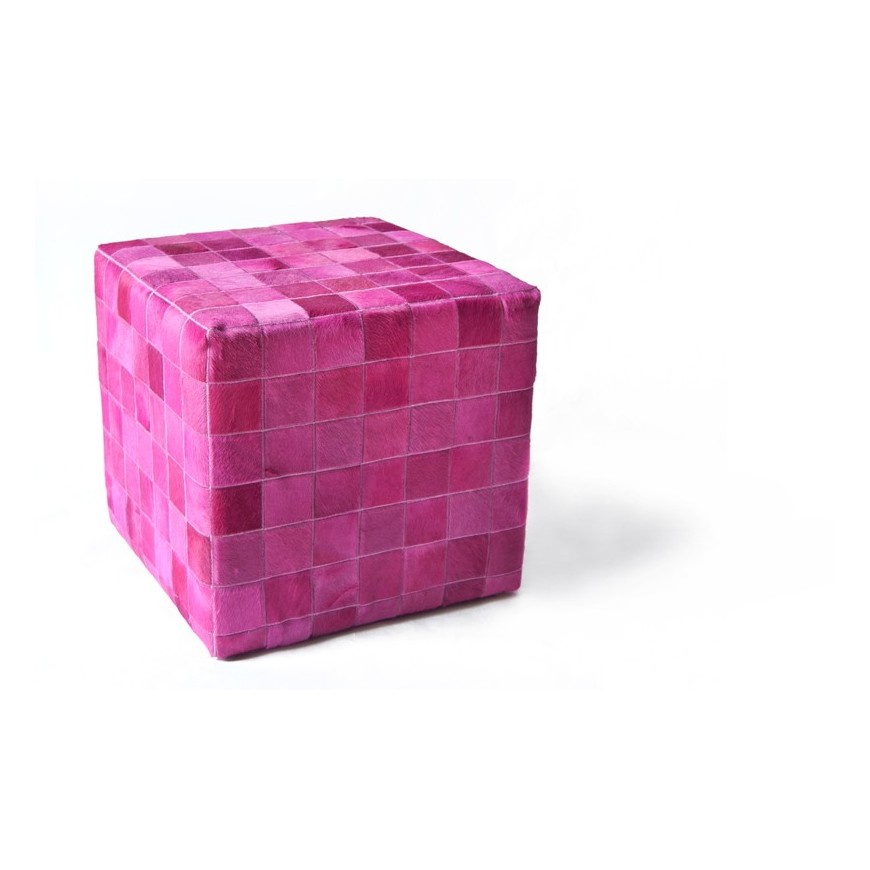 cowhide cube cover* fuchsia