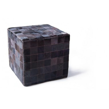 cowhide cube cover* mocca dark brown