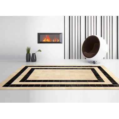 patchwork cowhide rug k-157  mosaik cappuccino double line t.moro horsy