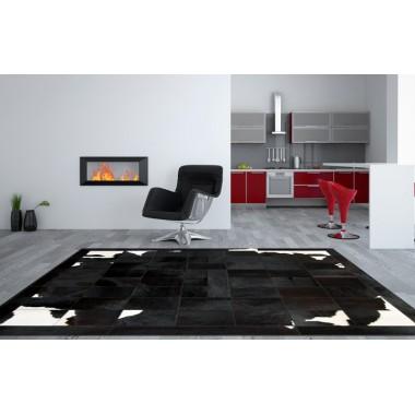 Δερματινο χαλι k-1699 black-brown-white