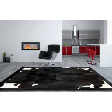 patchwork cowhide rug k-1699 black-brown-white
