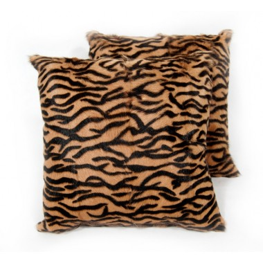 fur cushion  animal print