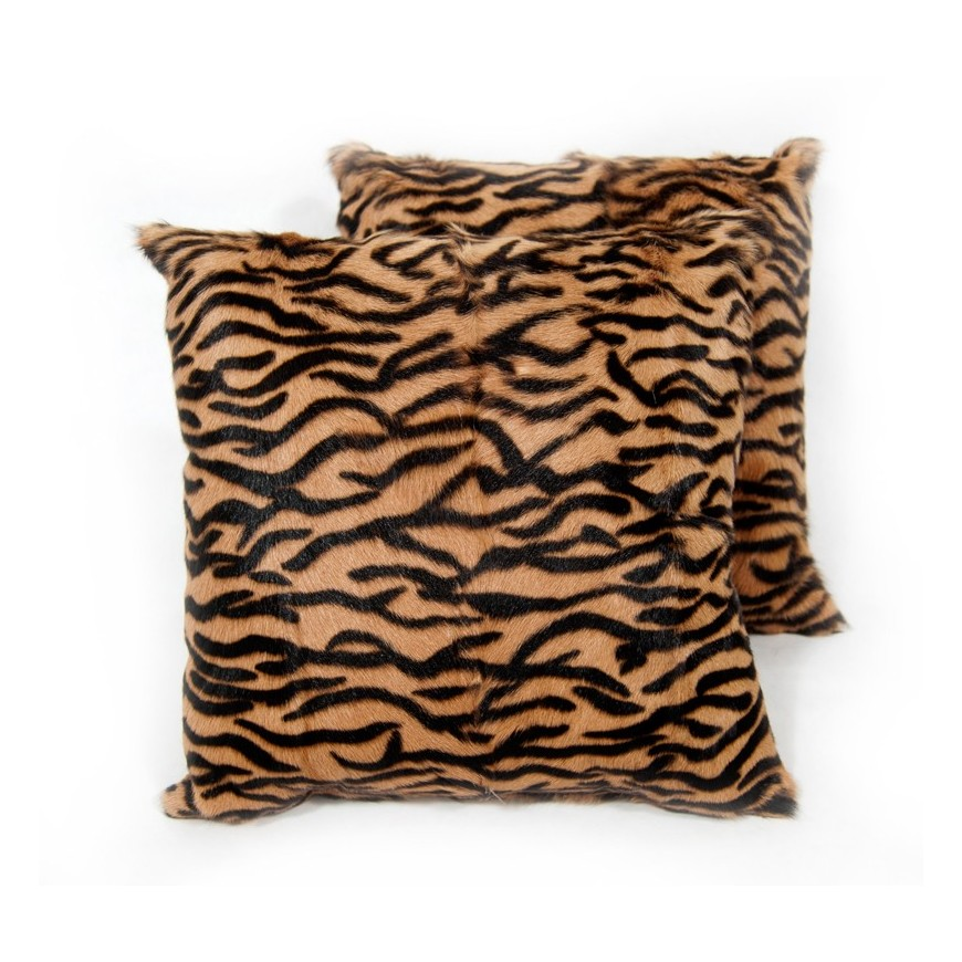 fur cushions kid skin animal print tiger