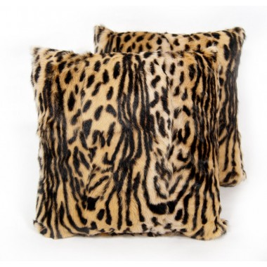 fur cushions kid skin animal prind