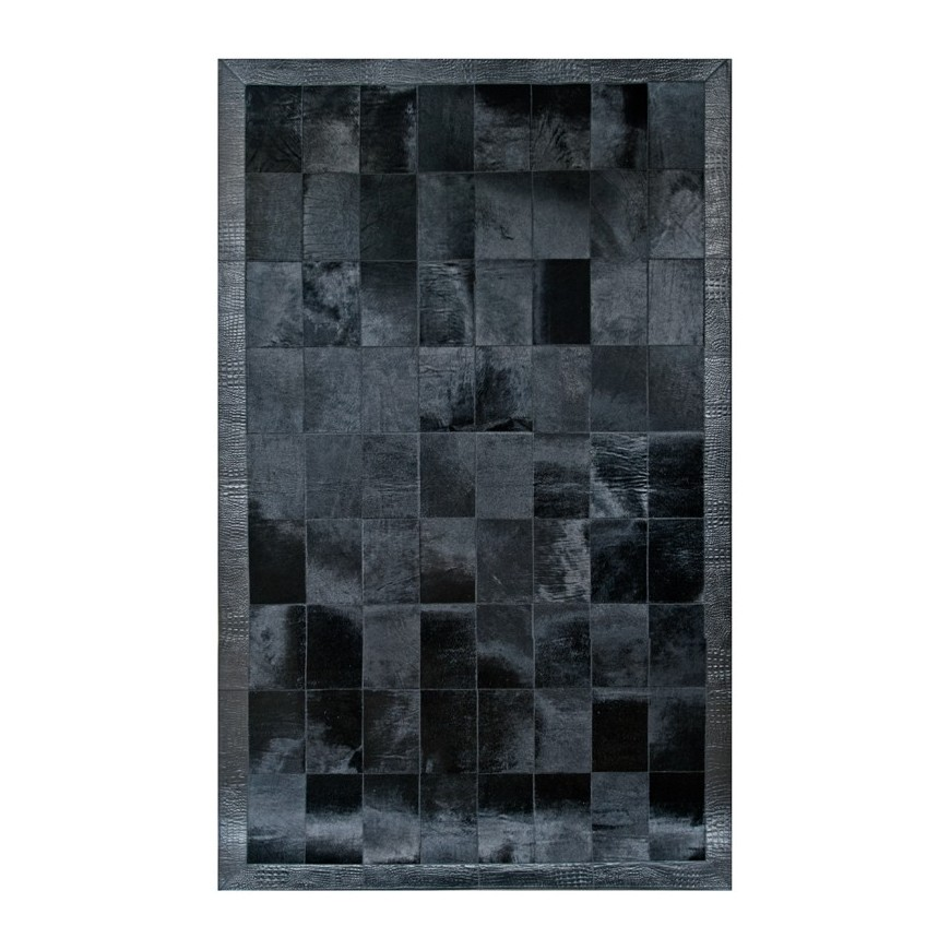 patchwork cowhide carpet K-160 Nero aristocracy