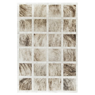 Patchwork cowhide rug k-162 penin light beige