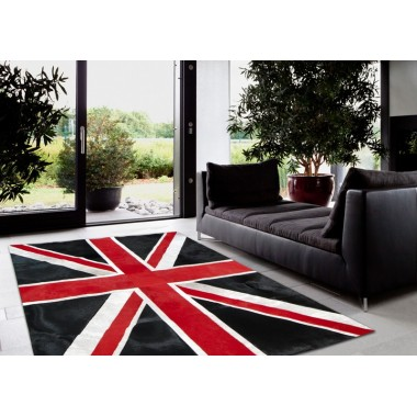 patchwork cowhide rug k-1911 british flag