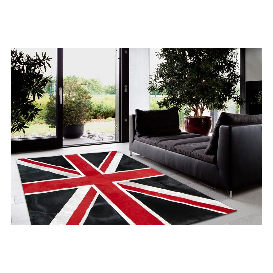 british flag furniture. Patchwork Cowhide Rug K-1911 British Flag Furniture