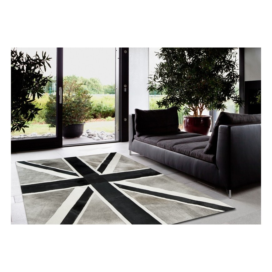 patchwork cowhide rug k-1910 british flag