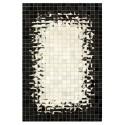 Δερματινο χαλι k-1258 mosaik white-black