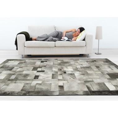 cowhide rug k-1914 beige grey puzzle