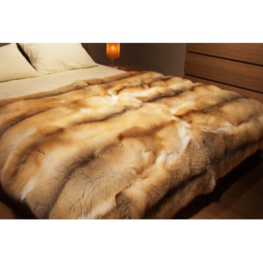 Fur Blanket - Golden Island real FOX