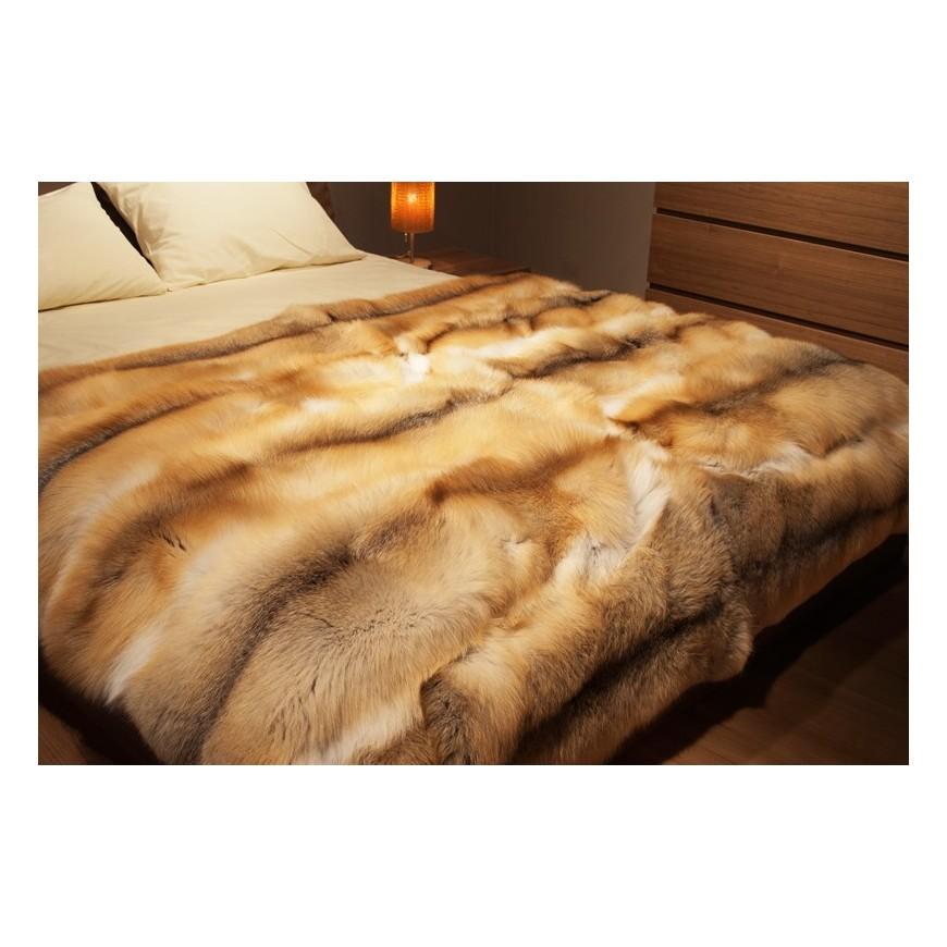 Fur Blanket - Golden Island real FOX