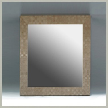 Woven Suede Mirror Frame