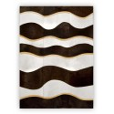 patchwork cowhide rug pinot design