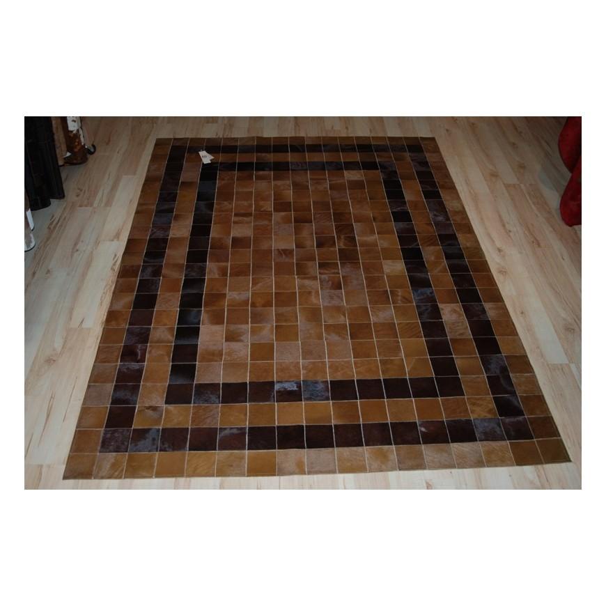 hide rug double line baio t.moro 1