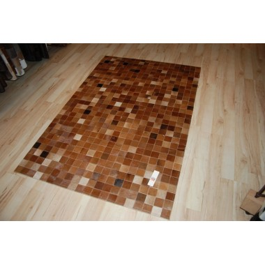 hide rug baio multicolour in panels 6 x 6 cm