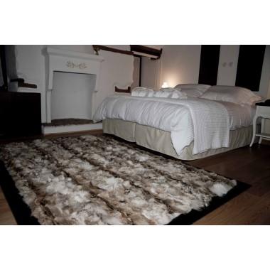 coyote natural fur rug