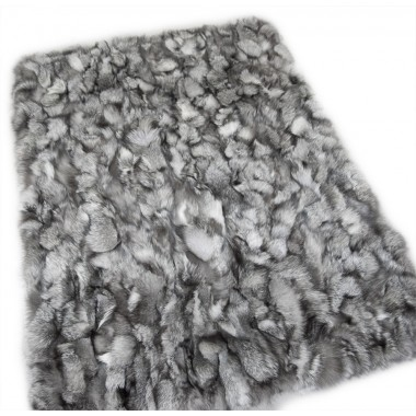 frost real fox fur throw  - blanket
