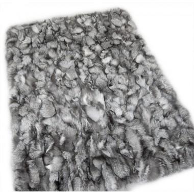 frost real fox fur throw size 115 x 185 cm