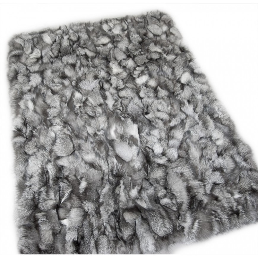 frost real fox fur throw size 115 x 185 cm