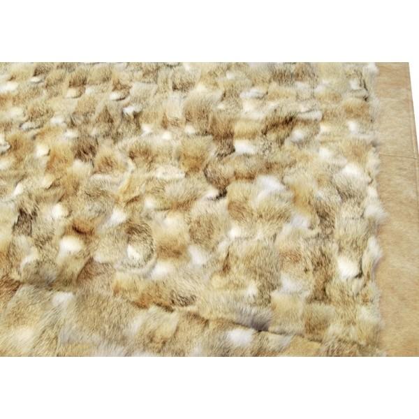 K-1536 Natural Beige Wolf Fur Rug